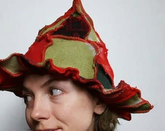 Funky Christmas Elf Recycled Sweater Hat