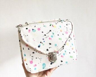 Mady Small Multicolor Splatter Crossbody Bag (Ready to Ship)