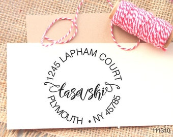 family stamp self ink rubber stamp address stamp modern calligraphy Personalized Self ink Custom Made Return Address Rubber Stamp great gift