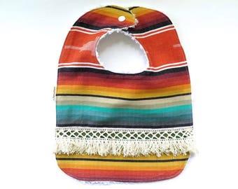 Boho Serape Southwest Style Bib - Baby Bib - Teething Bib - Baby Gift - Tribal Baby - Boho Style - Southwest Desert Style