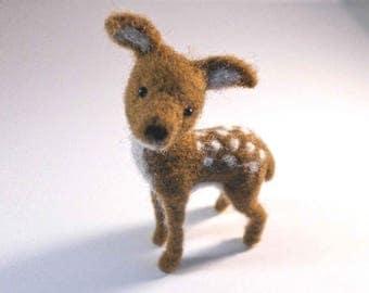 Needle Felted Deer, Fawn, Needle Felted Animal, Deer, Woodland Animals, Felt Animals, Felted Animals, Forest Animals, Needle Felt, Felt Fawn