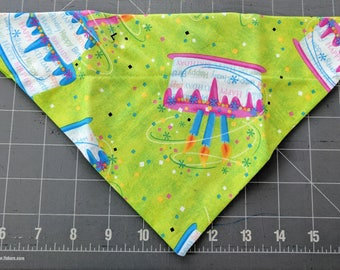 Dog Bandana, Birthday, Adoption, Celebration, Gotcha, Cake, Candles, Neckerchief
