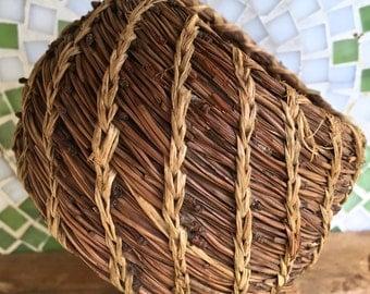 Vintage Native Pine Needle Basket