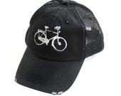 BIKE HAT - black hat - Bike - Baseball Hat - Bicycle - Spring - Summer - Sping -  Baseball Hat