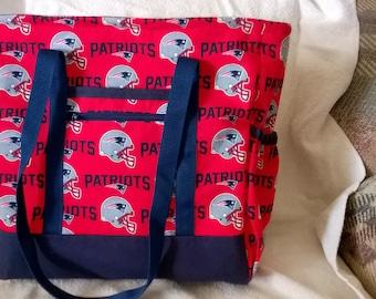 New  England Patriots Diaper Bag, Tote, Carry On, Book Bag