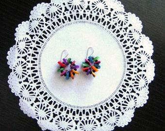 Short dangle earrings gift for her statement earrings  boho earrings bohemian earrings for her christmas