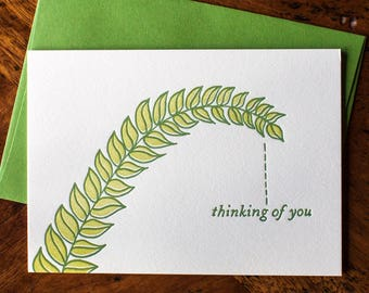 Leafy Thinking of You - Card