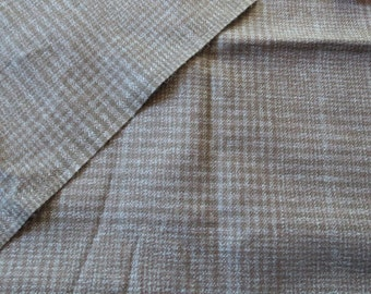 Vintage Blue Black Plaid Suiting Fabric 1.6 yards dress checkered