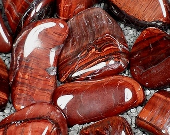 Red Tiger's Eye Tumble Polished Crystal Stone, 1 pc, Sizes 1 to 1.5 Inch, TS827