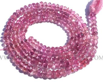 Pink Tourmaline Faceted Rondelle (Quality AA) / 3.50 to 4 mm / 36 cm / TOUR-015