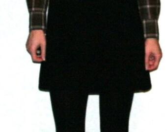Pretty Black Knit Tank Babydoll Dress- Size S