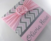 RESERVED IN purple, gray white chevron with gray sash