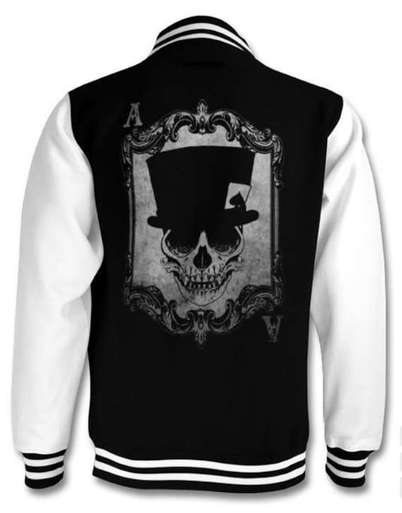 Voodoo Monkey Skull Varsity jacket