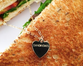 Sandwiches Heart Charm Necklace