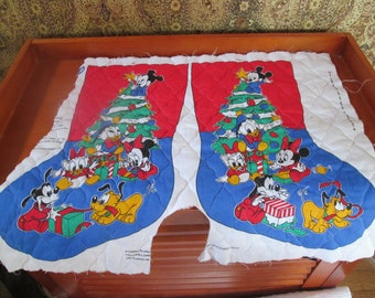 Vintage Disney Babies Stocking to MAKE - Mickey, Donald plus - 1 included with front and back - you sew and embellish.