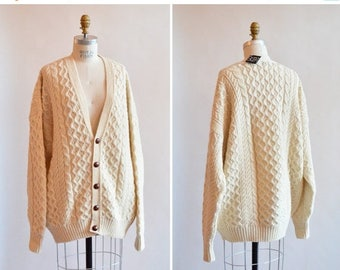 40% OFF / 3 days only / Vintage FISHERMAN's wool cardigan