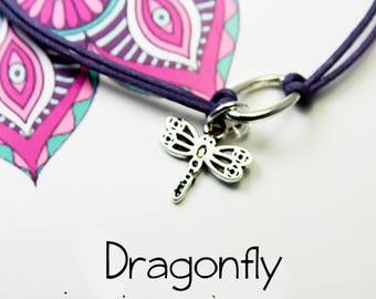 Friendship Inspire Charm Bracelet - Dragonfly Bracelet - Adaptability - Change - Joy -Change your thoughts Positive Vibes Bracelet INT011