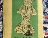 UNCUT vintage mail order sewing pattern 9190 little girls' dresses Size 4
