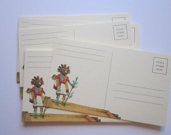 25 vintage postcards - KACHINA - southwest Kachina design