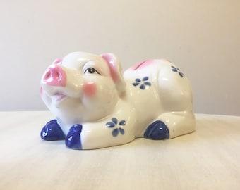 Vintage piggy bank, ceramic piggy bank, vintage bank, coin bank, horse lover gift, retro piggy bank, collectible bank, vintage money box