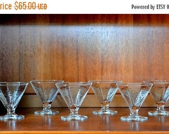 SALE 30% OFF vintage dansk summerhouse glass dessert stems