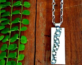 Silver Pendant, Rustic Jewelry, Silver Necklace,Handmade,unique,one of a kind