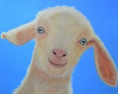 Goat Magnet - White Goat Magnet - Proceeds Benefit Animal Charity