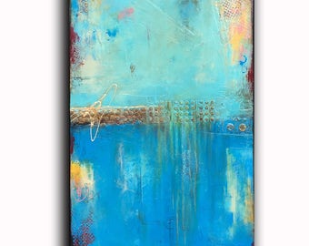 Textured Original Abstract Painting 24x36 canvas ART...SALE!