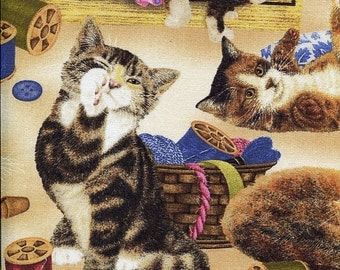 Sew Curious Cats - Willmington Prints - Half Yard