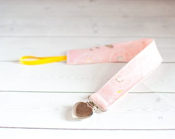 Pacifier Clip, Binky Holder - Pink Bicycle Paci Clip