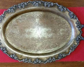 Antique Vintage Silver Serving Tray