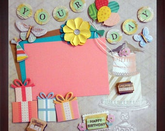YOUR DAY Premade Memory Album Page (Gallery Wood Frame Sold Separately)