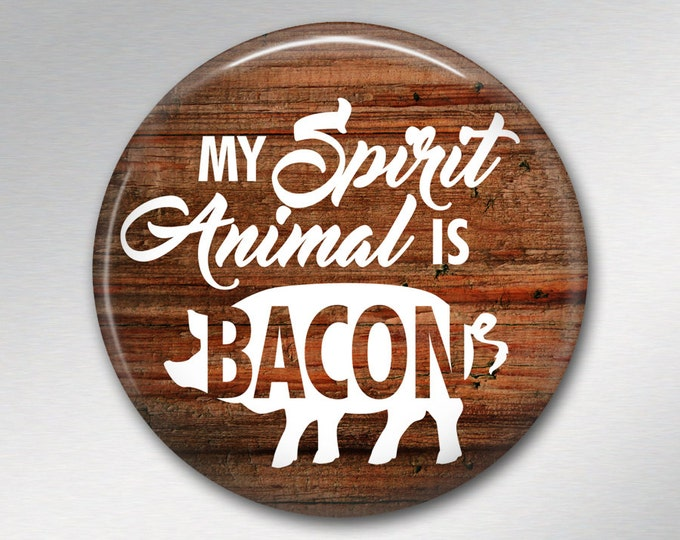 "Father gift, funny gifts for boyfriend, bacon gifts for him, rustic signs for kitchen, 3.5"" fridge magnets MA-SIGN-26"