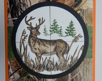 Handmade Hunting Deer Card