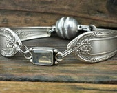 Whimsical  Spoon Bracelet From 1937 With Labradorite