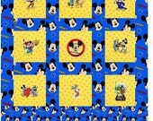 Custom order for Cindy. Embroidered Mickey Mouse Baby Quilt