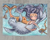 MerMay Day 8 - Original ACEO, watercolor painting
