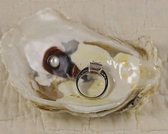 Real Oyster Shell Ring Bowl