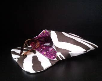 Haberry Brown and White Zebra  Envelope Clutch