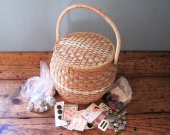 Vintage Dritz Wicker Sewing Baskets