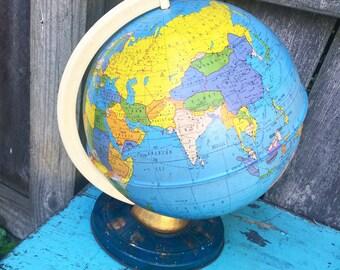 Vintage Globe, Ohio Art Globe, Vintage Zodiac Globe, Tin Globe, Toy Globe