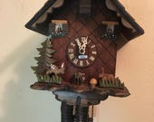 Vintage german cuckoo clock forest