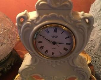 vintage alarm clock ornate white french