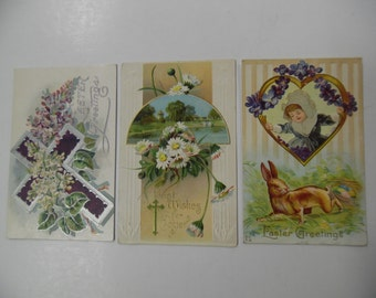 vintage postcards, old Easter postcards, vintage Easter postcards, bunny postcards