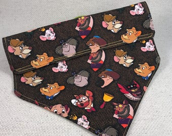 Medium Great Mouse Detective Tweed Slip-on Bandana Ready to Ship Sale