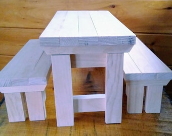 Handmade Picnic Table for 18 inch Doll