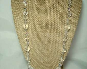 Vintage Crystal Beaded Necklace.