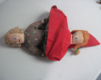 Vintage 3 faced Topsy Turvy Doll Little Red Riding Hood