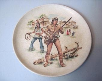 Vintage Boonton melmac Daniel Boone plate