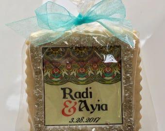 Indian inspired cookie favor wedding shower cookies